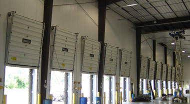 refrigerated cold storage warehouse construction with steel framing